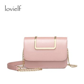 2017 Spring summer Fashion Women Girls Ice cream color Pearl lustre Chain Flap Portable Small Cross body bags Shoulder Bags Gift