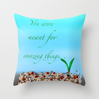 For Meaghan Throw Pillow by Jaclyn Celeste