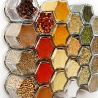 Organic Pantry Spices in Magnetic Jars