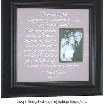 Personalized Picture Frame, TODAY A CELEBRATION, Decoration, Centerpiece, Mom Dad, Parents Thank You, Signs, 16 X 16