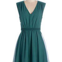 ModCloth Mid-length Sleeveless A-line Have You Verdant? Dress