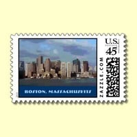 Eerie Clouds Over Boston, postage from Zazzle.com