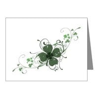 Elegant Shamrock Note Cards (Pk of 10)