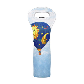 Hot Air Balloon Wine Tote