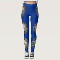 Leggings with flag of New Hampshire State, USA