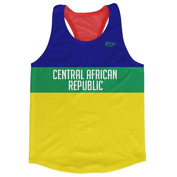 Central African Republic Country Finish Line Running Tank Top Racerback Track and Cross Country Singlet Jersey