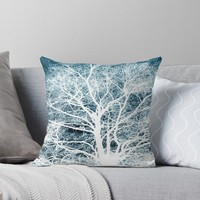 'Tree silhouette' Throw Pillow by steveball