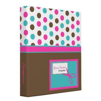 Polka Dot Coupon Binder from Zazzle.com