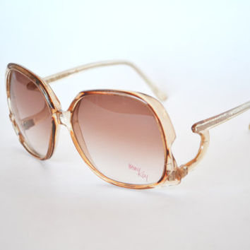 1970s Sunglasses Oversized Mary Kay Boho Chic