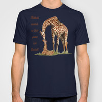 Mothers Giraffe and Calf T-shirt by LGD.