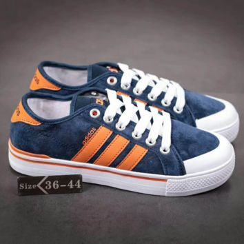 Adidas NEO Originals Gazelle Women Fashion Sneakers Sport Shoes Blue Orange line G-A-YYMY-XY