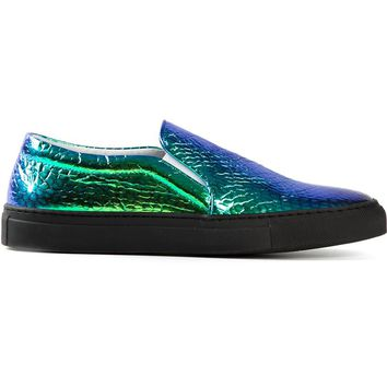 Joshua Sanders 'Vipera' hologram slip on sneakers