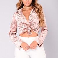 New Lover Velvet Top - Mauve