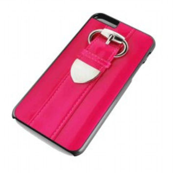 Patent pink clutch for iphone 6 plus case