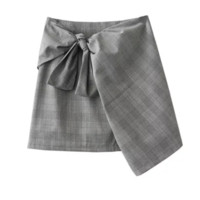 FREE SHIPPING  Custom patterned plaid skirt and high-waisted skirt