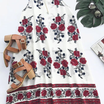 Cupshe Rose Is A Lie Floral A-line Dress