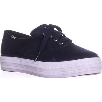 Keds Triple Platform Fashion Sneakers, Peacoat Navy, 7.5 US / 38 EU
