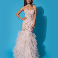 Strapless trumpet gown 1267 - Prom Dresses