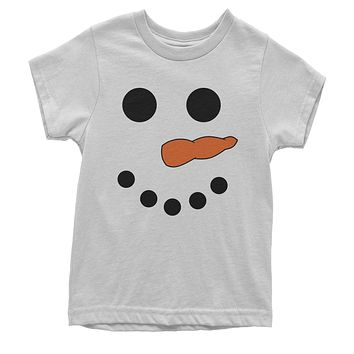 Snowman Smiling Face With Carrot Youth T-shirt