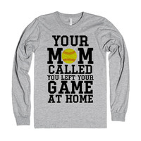 Your Mom called left your game at home softball tank top tee t shirt