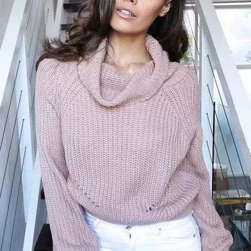 Watertown Cropped Knit Sweater