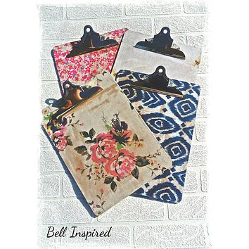 Clipboard, office supplies, clip board, office clipboard, school clipboard, floral stationery, vintage office