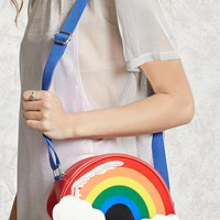 Faux Leather Rainbow Crossbody