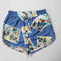 Vintage 70s Laguna Hawaiian Swim Trunks Mens Retro Surfing Luau Shorts Hawaii Beach Surf Swimsuit 1970s Emo Surfing Swimwear