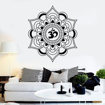 Vinyl Wall Decal Mandala Lotus Talisman Buddhism Hinduism Stickers Unique Gift (ig4051)