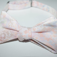 Men's Multi Colored Pastel Lined Bow Tie