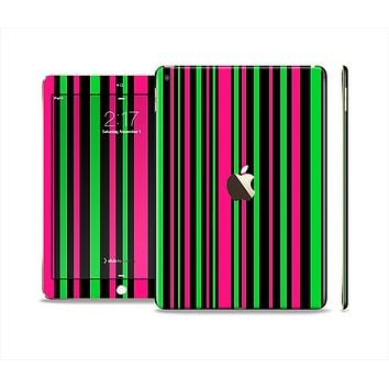 The Pink & Green Striped Skin Set for the Apple iPad Air 2