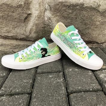 Wen Low Top Skateboarding Shoes Custom Hand Painted Shoes Design As You Like It Canvas Sneakers for Men Women Plimsolls Trainers