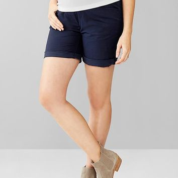 Gap Women Full Panel Khaki Boyfriend Shorts