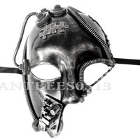 New ! Steampunk Fantasy Aesthetic Half Face Unisex Masquerade Custom Mask