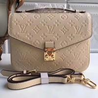 Louis Vuitton Women Shopping Leather Crossbody Satchel Shoulder Bag H