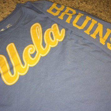 Sale!! Vintage UCLA BRUINS long sleeve T shirt University Los Angeles NCAA Football tee