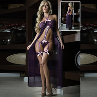 Cute Hot Deal On Sale Women's Fashion Sexy Pale Violet Butterfly One-piece Prom Dress Exotic Lingerie [6596437507]