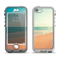 The Vintage Beach Scene Apple iPhone 5-5s LifeProof Nuud Case Skin Set