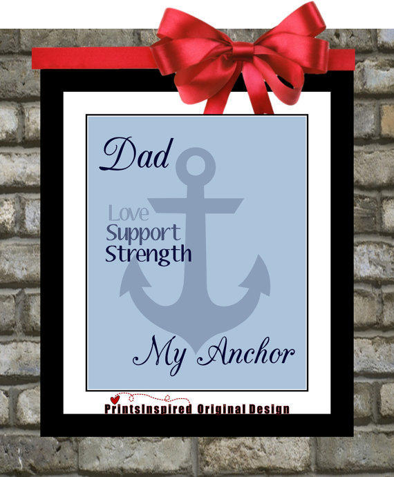 Fathers Day Personalized Custom Anchor From Printsinspired On