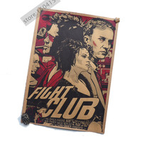 Wall Poster Fight Club Movie Vintage Poster 12X16
