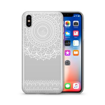Mandala Sun Lace - Clear TPU Case Cover Phone Case