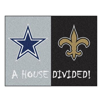 Dallas Cowboys/New Orleans Saints NFL House Divided NFL All-Star Floor Mat (34x45)