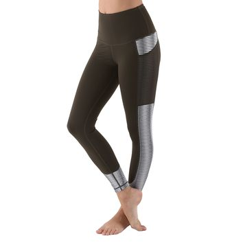 Women's Active Long Yoga Compression Leggings - Olive