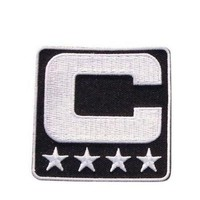 2017 Captain C Patch Iron or Sewing On for Jersey Football Baseball. Soccer Hockey Lacrosse Basketball