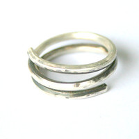 Silver Spiral Ring by mehru on Etsy