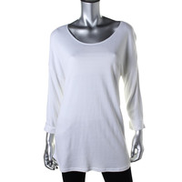 Style & Co. Womens 3/4 Sleeves Jewel Neck Pullover Top