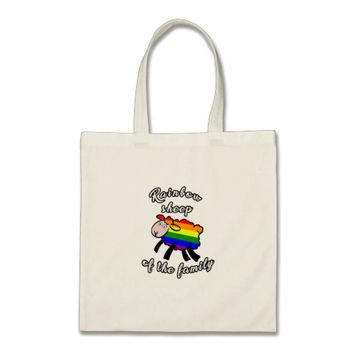 Rainbow sheep tote bag