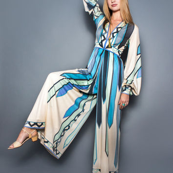 RARE 1960s Pucci jumpsuit in silk jersey