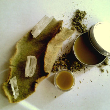 Artemisia Balm: Natural Herbal Balm of Mugwort, Wormwood, Davana and Sage with Responsible Beeswax and Coconut Oil