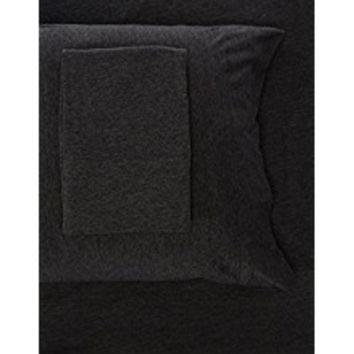 Intelligent Design ID20-691 Cotton Blend Jersey Knit Sheet Set, Twin, Dark Grey